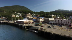 The City Of Ketchikan Alaska Waterfront Dock South East Alaska 4K Stock Footage