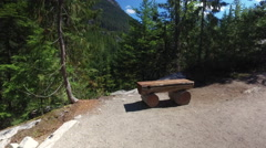 British Columbia Mountain Top Public Groomed Hiking Trail Canada 4K - stock footage