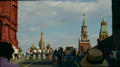 MOSCOW, RUSSIA - JULE 24, 2016: people enter to Red Square Stock Footage