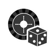 Roulette casino vegas Stock Illustration