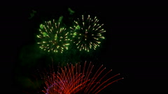 Beautiful Colorful Fireworks Show Stock Footage