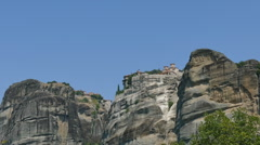Monastery Meteora, Greece Thessaly Stock Footage