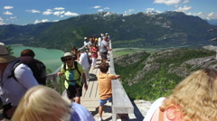 Scenic Mountain Lookout Squamish Vancouver Canada Stock Footage