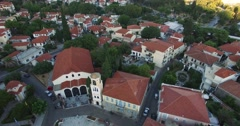 Flight above the old town of Xanthi in northern Greece Stock Footage