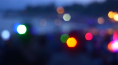People Hold Glowing Lights in Different Colors Multicolored Lights Flicker Stock Footage
