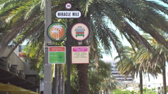 Miracle Mile street sign Stock Footage