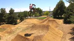 Aerial BMX Bike Jump Stock Footage