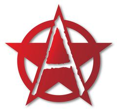 Anarchy A Letter Stock Illustration