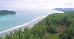 Koh Pra Thong and Deserted Beaches in the Andaman Sea, Thailand, Pullback Shot Stock Footage