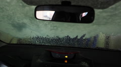 Driving through a car wash - stock footage