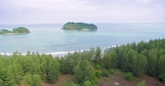 Quiet Bay on Prathong Island in the Andaman Sea, Thailand, Slider Style Shot Stock Footage
