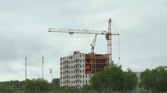 Construction of multi-storey apartment buildings Stock Footage
