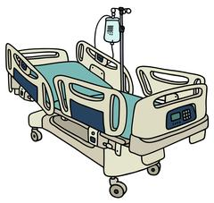 Hospital position bed Stock Illustration