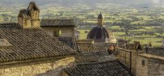 Assisi Italy rooftop view Stock Photos