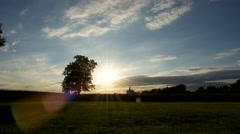 Rural Scene 4K Sunset Time Lapse Stock Footage