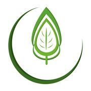 Abstract leaves nature icon Stock Illustration