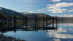 Coast of the Lake Tahoe Stock Footage