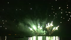 Pyrotechnics Makes a Test of a New Invention - Fireworks-Chameleon Stock Footage