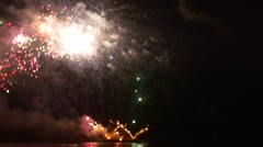 Amazing Firework in Led Threads Form Bright Flashes of Light Show With Fire Stock Footage