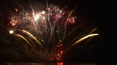 Amazing Fireworks Celebration in a Grand Scale Flashes of Light in the Dark Sky Stock Footage