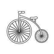 Retro bicycle icon Stock Illustration