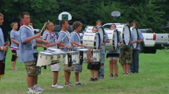 Marching Band Percussion Stock Footage