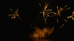 Beautiful Fireworks Event in a Big Way Explosion of Emotion Flashes of Light in Stock Footage