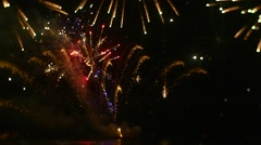 Firework is Sparkling With Bright Various Colors Expensive Gift For Beloved Stock Footage