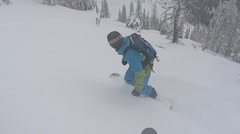 Snowboard freeride Stock Footage