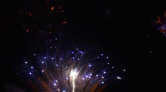 Blue Sparks Are Shooting and Flying in the Sky Big Firework Grand Pyrotechnics Stock Footage