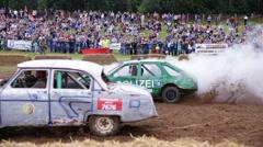 Car fighting for survival Grodno, Belarus Stock Footage