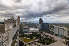 Timelapse of the Business District In Makati City, Manila Stock Footage
