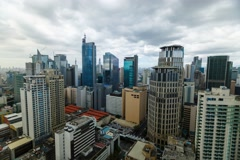 Timelapse of the Business Disctrict of Metro Manila Stock Footage