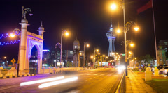 Alor Setar Menara at Night. Stock Footage