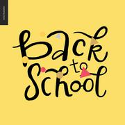 Back to school lettering Piirros