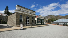 New Zealand Old Cromwell town shops Stock Footage
