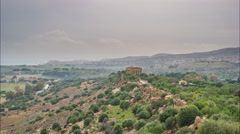 Sunset timelapse of Valley of temples in Agrigento in Sicily Stock Footage