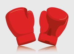 Glove red boxing sport design Stock Illustration