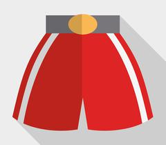 boxer short boxing sport design - stock illustration