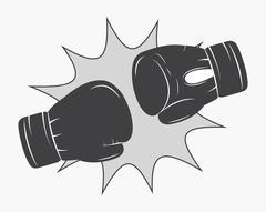 Glove boxing sport design Stock Illustration