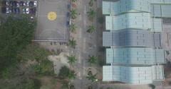 Aerial tracking up to the Estadio Atanasio Girardot Stock Footage