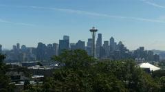 Seattle Time Lapse Pan Stock Footage