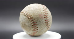 Softball Spinning Isolated on Black Background, 4K Stock Footage