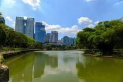 Timelapse of Lake Gardens, Perdana Botanical Gardens Stock Footage