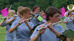 Marching Band Flutes Stock Footage