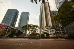 Timelaspe of Traffic Street Scene In Malaysia Stock Footage