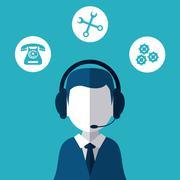 Call center technical service design Piirros