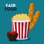 Fair food snack carnival design Stock Illustration