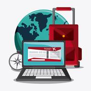 Time travel vacation trip icon Stock Illustration
