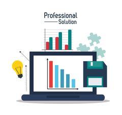 Professional solution technology design Stock Illustration
